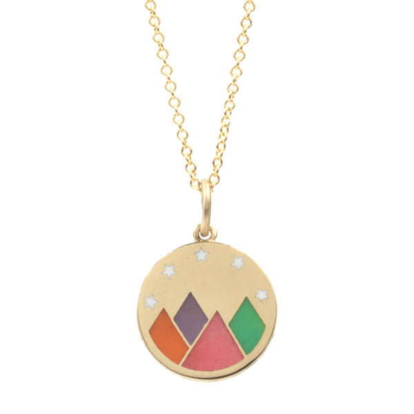 RTS  Rainbow Enamel Mountain Vista Necklace