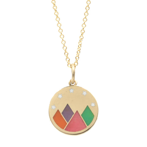 Rainbow Enamel Mountain Vista Necklace