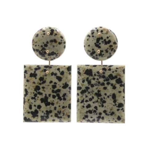 Mobile Earrings Dalmatian Double