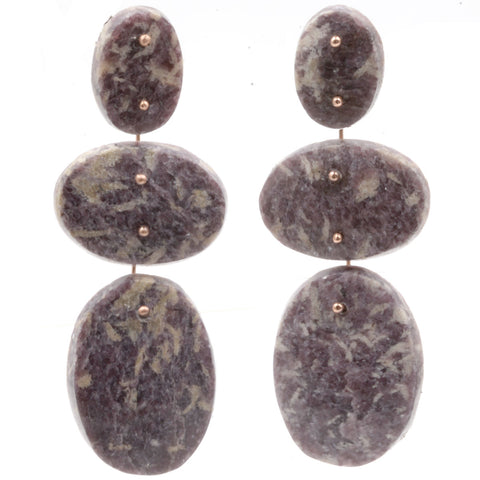 Mobile Earrings Lepidolite