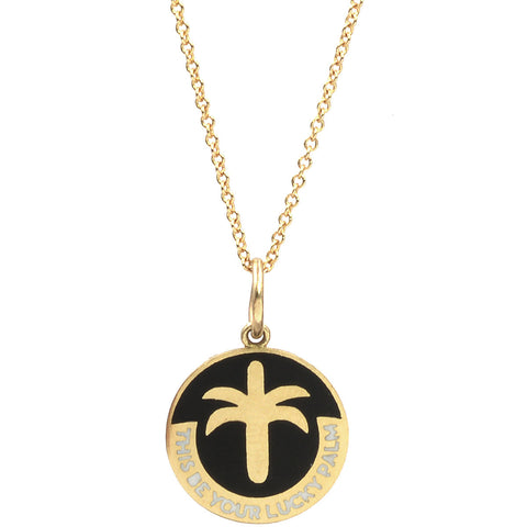 Enamel Lucky Palm Necklace
