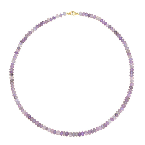 Beaded Mini Lavender Chalcedony Necklace