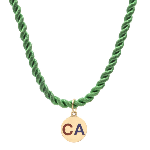 Round Enamel CA Necklace