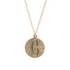 Large Floral Engraved Circle Necklace
