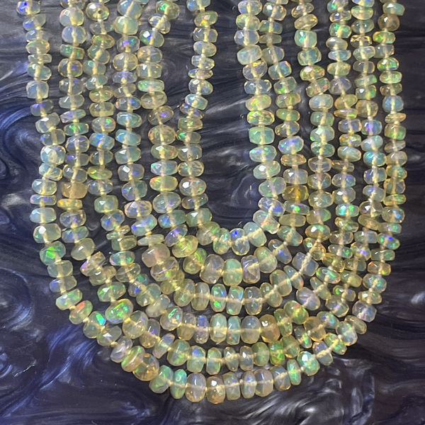 Mini Beaded Ethiopian Opal Necklace
