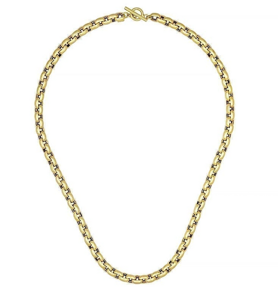 Puffy 14k Gold Link Necklace