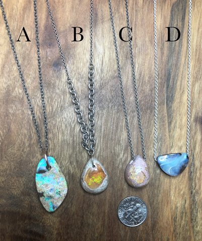 Sterling Silver Opal Necklaces SS19
