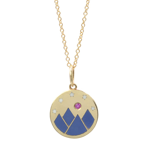 Enamel Mountain Vista Necklace