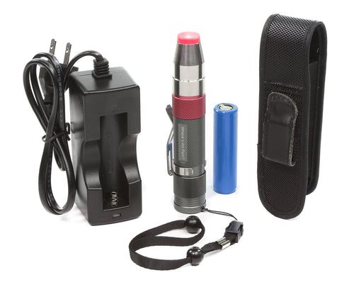 Basic kit includes, pen with belt clip and safety wrist lanyard, battery, battery charging cradle with cable and outlet plug.
