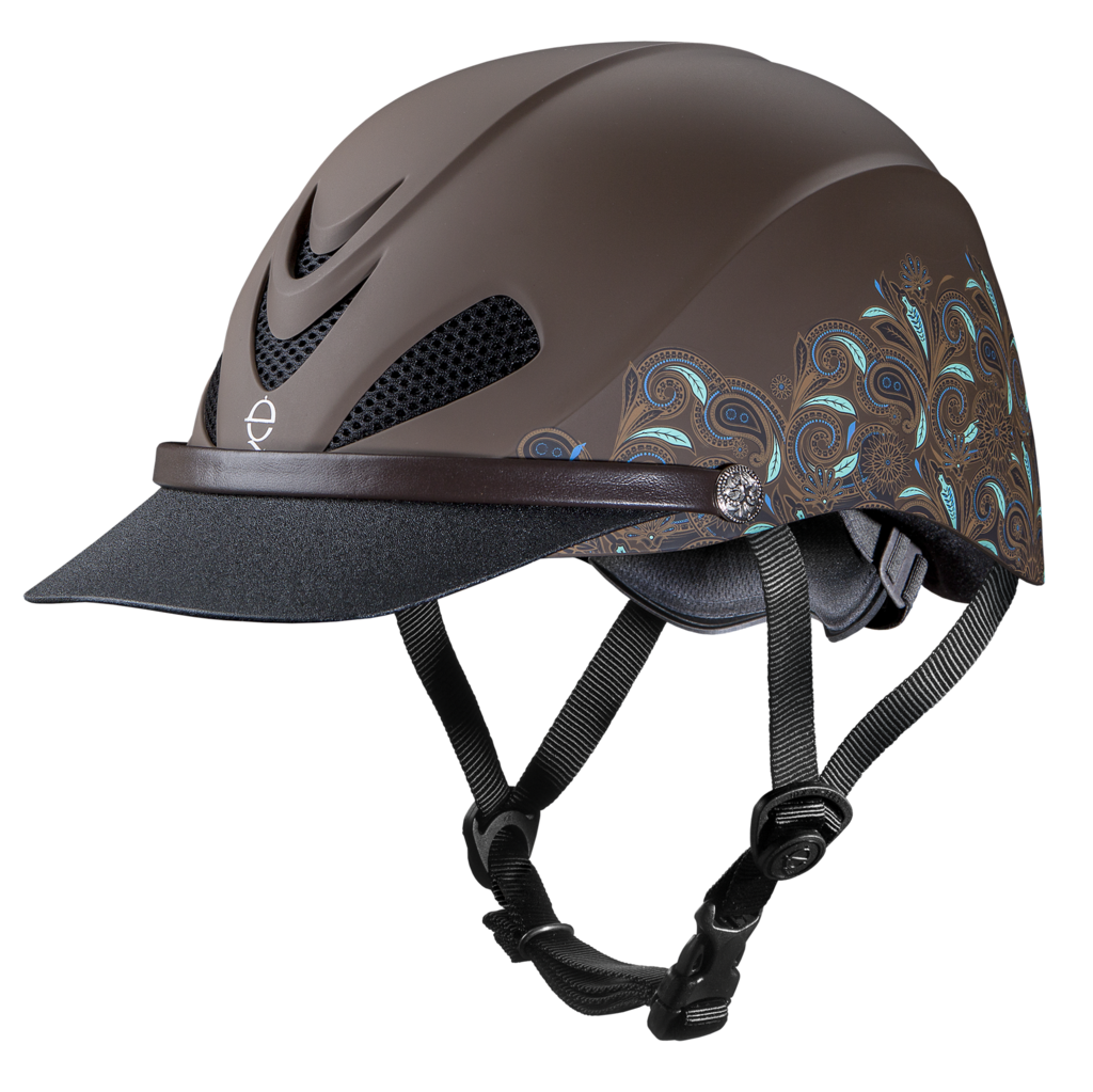 Add a touch of feminine style with the Turquoise Paisley Dakota helmet.
