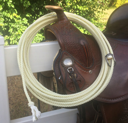 45-ft Brannaman horse training rope with metal hondo.