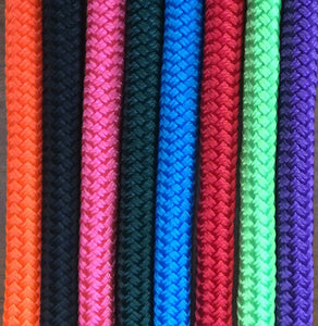 Natural horsemanship halters and lead ropes in a wide variety of colors.