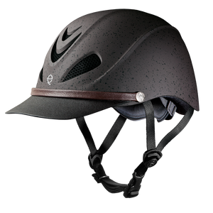 The classic Dakota Grizzly Brown helmet compliments any trailrider's style.
