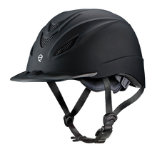 Classic English black makes this a great helmet for the show ring.