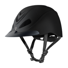 The classic Black Duratec color on the Troxel Liberty helmet lends sophistication in the show ring or on the cross-country course.