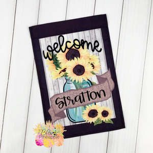 Mason Jar and Sunflower Garden Flag