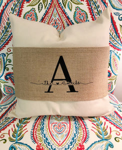 "Burlap Pillow Wrap Blank for 16""-18"" Pillows"