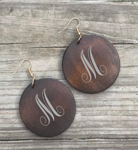 Blank Wood disc earrings