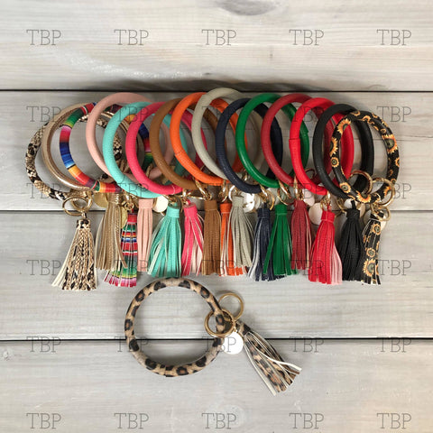 Bangle with Tassel and Key Ring
