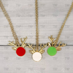 Reindeer Necklace (Clearance)