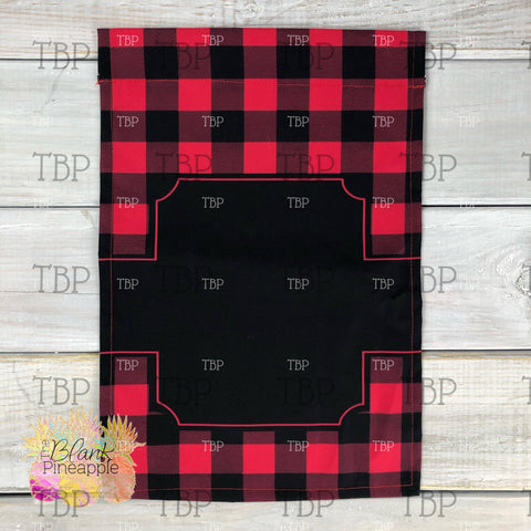 Red Buffalo Plaid Garden Flag