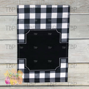 White Buffalo Plaid Garden Flag
