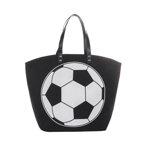 Canvas Soccer Sports Tote Bag
