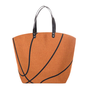 Canvas Basketball Sports Tote Bag