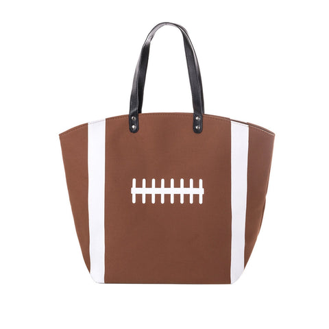 Football Canvas Tote Bag