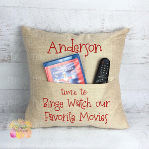 "Faux Burlap Pocket Pillow Cover 18"" x 18"""