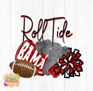 Alabama Roll Tide Football Sublimation Design