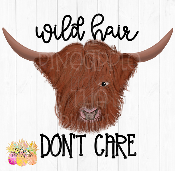 PNG - Auburn Hairy Highland Wild Hair Don't Care Cow