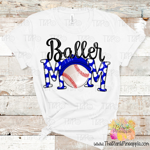 Baseball Baller Mom Sublimation Design PNG