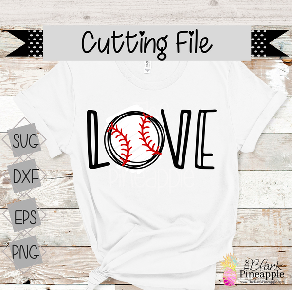 Baseball Cut File for Cricut and Silhouette