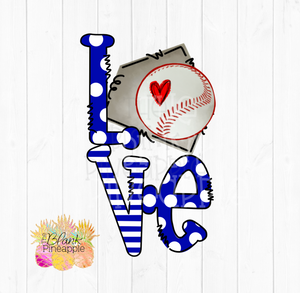 PNG - Baseball Love Home Plate Blue