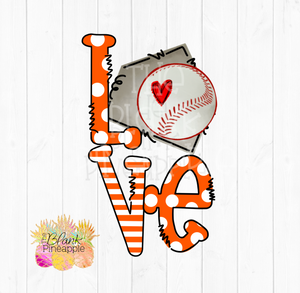 PNG - Baseball Love Home Plate Orange