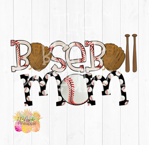 Baseball Mom Sublimation Design