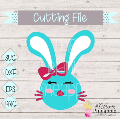 CUT FILE - Girl Bunny w/ Bow