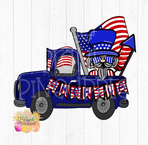 July 4th Uncle Sam Truck Sublimation Download
