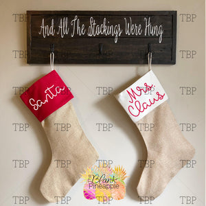 Faux Burlap Stocking