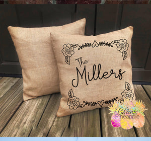 "Blank Burlap Pillow Cover 18"" x 18"""