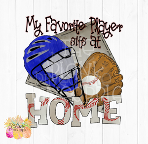 Baseball Catcher Favorite Player Sublimation Design