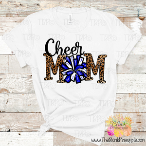 PNG -  Cheer Mom Pom Pom in Leopard and Blue