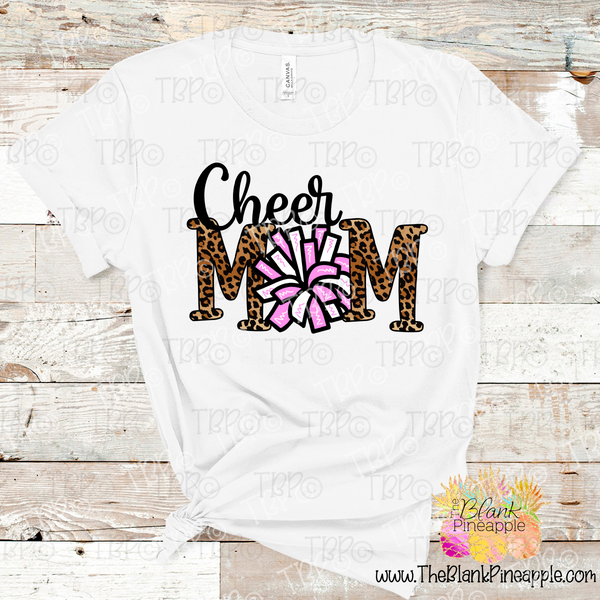 PNG -  Cheer Mom Pom Pom in Leopard and Light Pink
