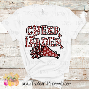 Cheerleader Pom Pom and Megaphone Sublimation Design PNG