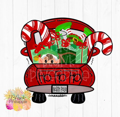 PNG - Christmas Truck with Santa
