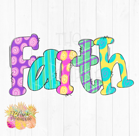 Cute Faith Sublimation Clipart PNG