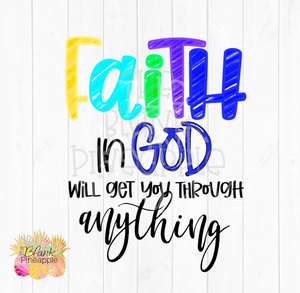 Faith in God Sublimation Design PNG
