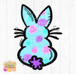 PNG - Flower Easter Bunny