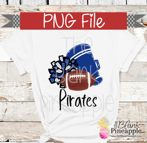 PNG - Football , Pom Pom, and Megaphone Blue